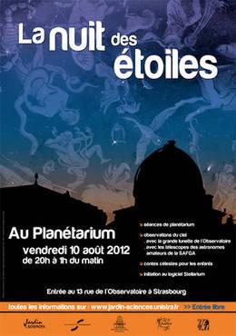 Nuit des étoiles (Planétarium)